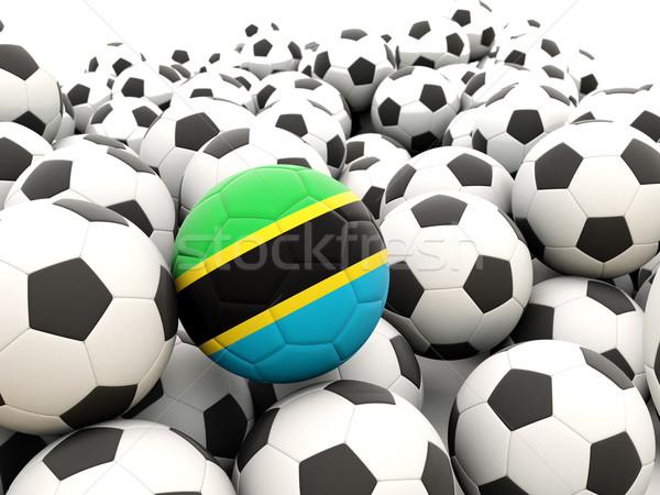 Futbol bayrak Tanzanya düzenli yaz Stok fotoğraf © MikhailMishchenko
