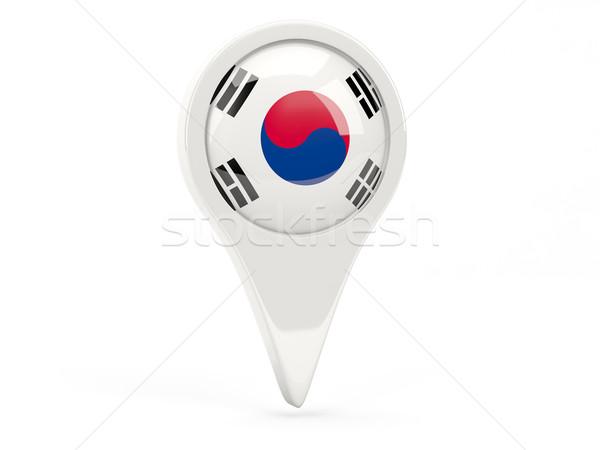 Round flag icon of south korea Stock photo © MikhailMishchenko