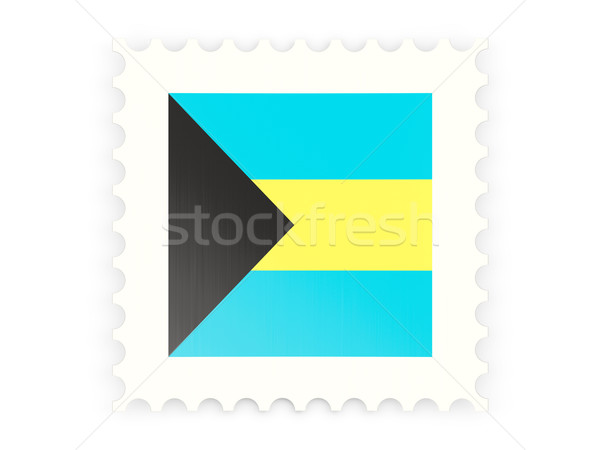 Postage stamp icon of bahamas Stock photo © MikhailMishchenko