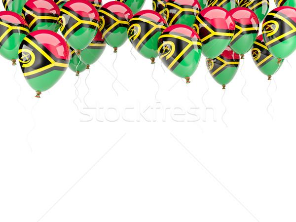 Balão quadro bandeira Vanuatu isolado branco Foto stock © MikhailMishchenko