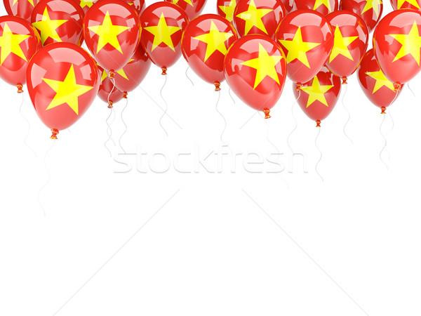 Balon çerçeve bayrak Vietnam yalıtılmış beyaz Stok fotoğraf © MikhailMishchenko