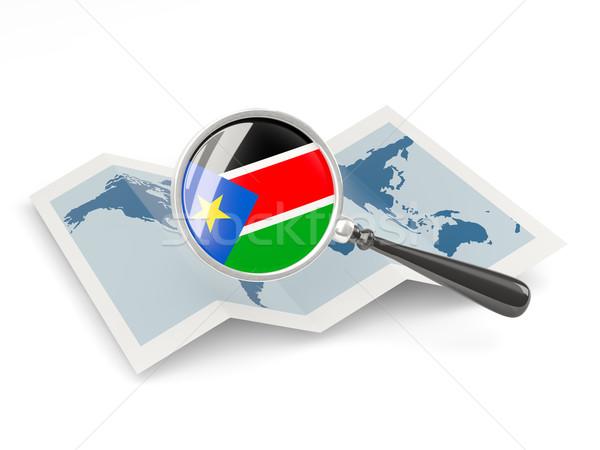 Vlag zuiden Soedan kaart Stockfoto © MikhailMishchenko