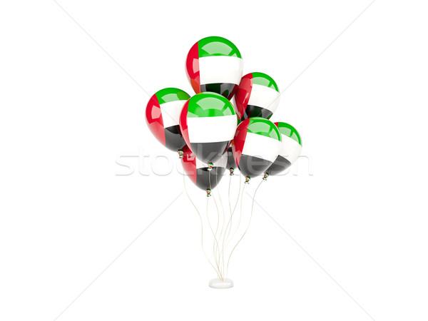 Uçan balonlar bayrak Birleşik Arap Emirlikleri yalıtılmış beyaz Stok fotoğraf © MikhailMishchenko
