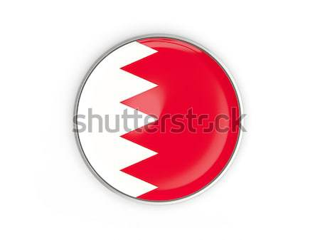 Botão bandeira Bahrein metal quadro viajar Foto stock © MikhailMishchenko