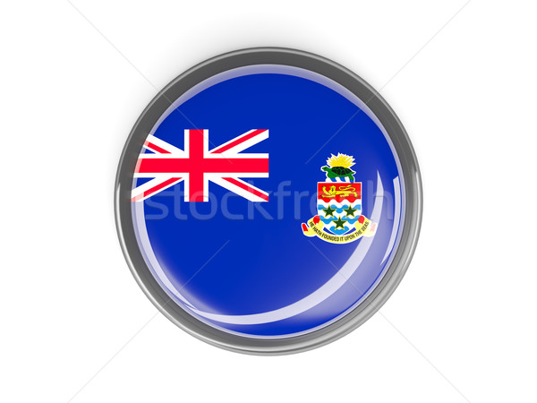 Round button with flag of cayman islands Stock photo © MikhailMishchenko