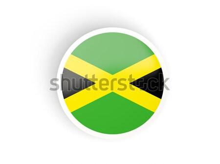 Düğme bayrak Jamaika Metal çerçeve seyahat Stok fotoğraf © MikhailMishchenko