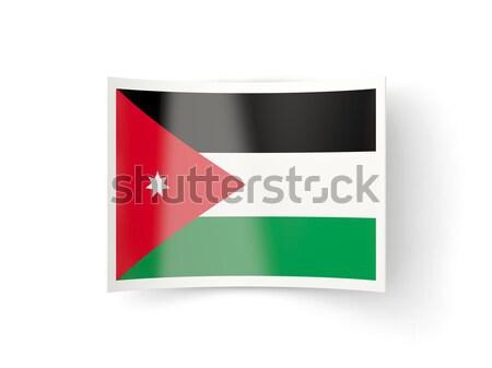 Placu ikona banderą Jordania metal ramki Zdjęcia stock © MikhailMishchenko
