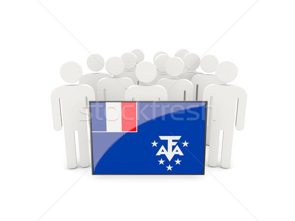 Persone bandiera francese meridionale isolato bianco Foto d'archivio © MikhailMishchenko