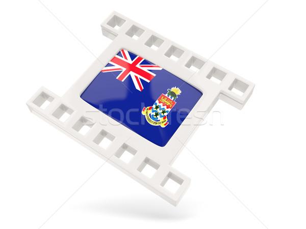 Movie icon with flag of cayman islands Stock photo © MikhailMishchenko