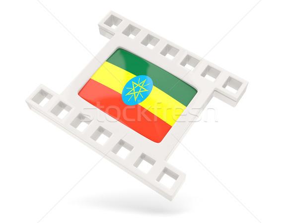 Film ikona banderą Etiopia odizolowany biały Zdjęcia stock © MikhailMishchenko