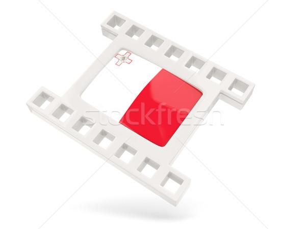 Film icon vlag Malta geïsoleerd witte Stockfoto © MikhailMishchenko