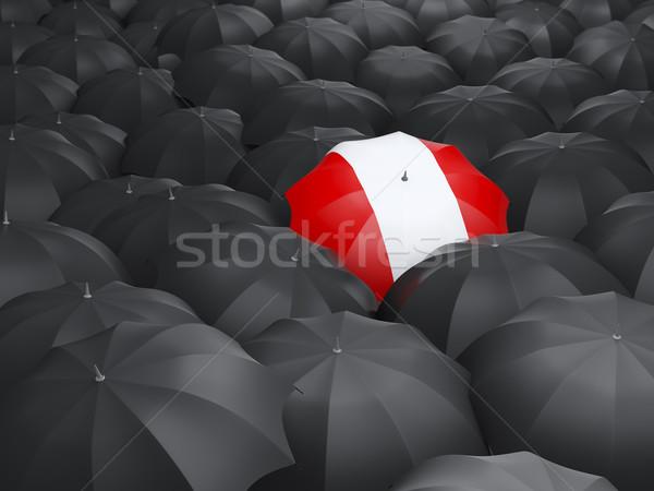 Umbrella with flag of peru Stock photo © MikhailMishchenko