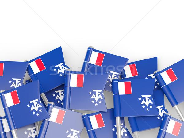 Zászló tő francia déli izolált fehér Stock fotó © MikhailMishchenko