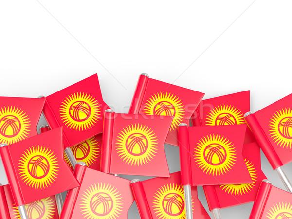 Bayrak pin Kırgızistan yalıtılmış beyaz arka plan Stok fotoğraf © MikhailMishchenko