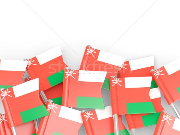 флаг Pin Оман изолированный белый Мир Сток-фото © MikhailMishchenko