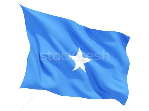 Banderą Somali odizolowany biały Zdjęcia stock © MikhailMishchenko