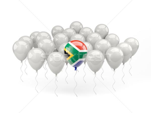 Ar balões bandeira África do Sul isolado branco Foto stock © MikhailMishchenko