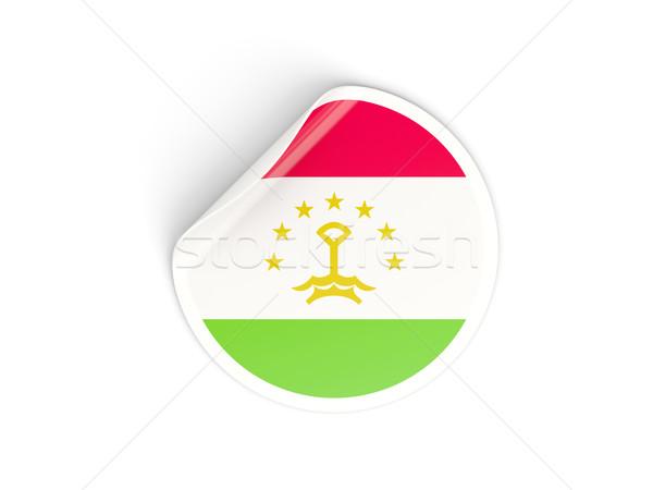 наклейку флаг Таджикистан изолированный белый путешествия Сток-фото © MikhailMishchenko