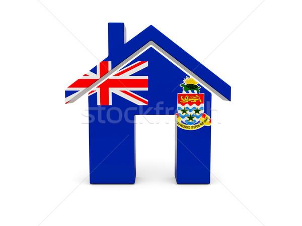 Domu banderą odizolowany biały wyszukiwania Zdjęcia stock © MikhailMishchenko