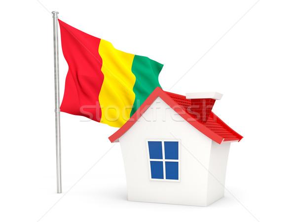 дома флаг Гвинея изолированный белый домой Сток-фото © MikhailMishchenko