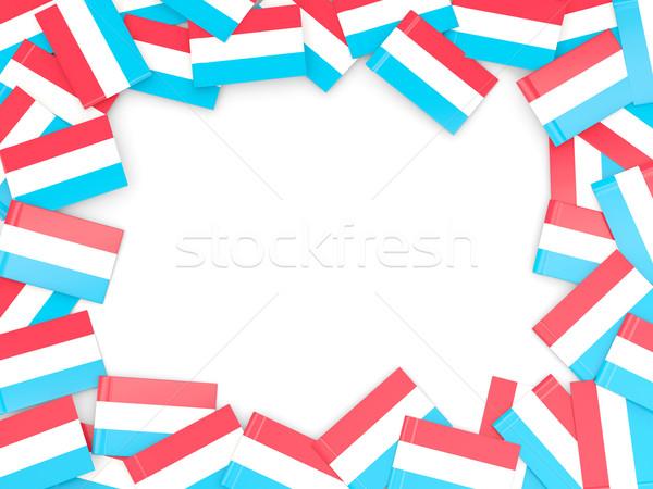 Ramki banderą Luksemburg odizolowany biały Zdjęcia stock © MikhailMishchenko