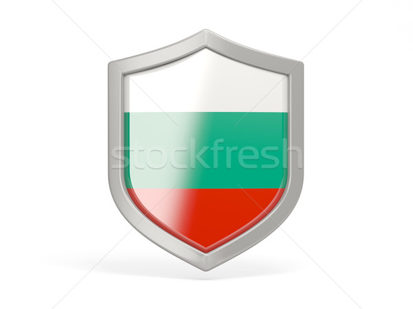 Shield icon with flag of bulgaria Stock photo © MikhailMishchenko
