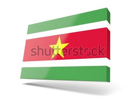 икона флаг Суринам изолированный белый стране Сток-фото © MikhailMishchenko