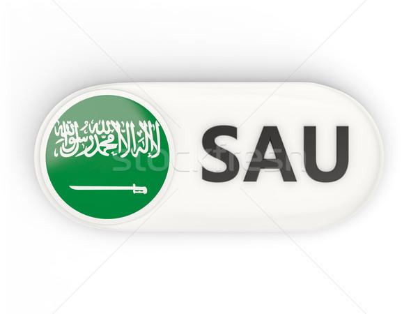 Round icon with flag of saudi arabia Stock photo © MikhailMishchenko