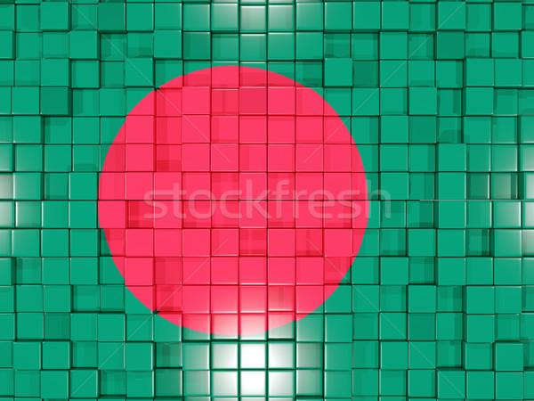 Tér alkatrészek zászló Banglades 3D mozaik Stock fotó © MikhailMishchenko