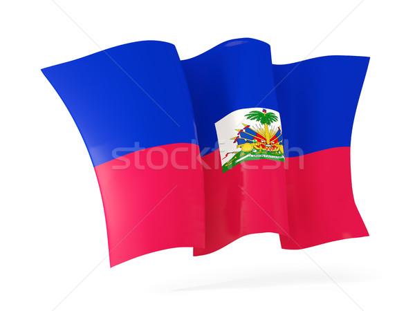 Vlag Haïti 3d illustration geïsoleerd witte Stockfoto © MikhailMishchenko