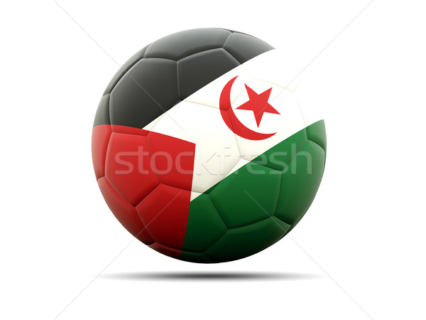 Voetbal vlag westerse sahara 3d illustration voetbal Stockfoto © MikhailMishchenko