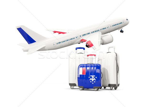 Luggage with flag of french southern territories. Three bags wit Stock photo © MikhailMishchenko
