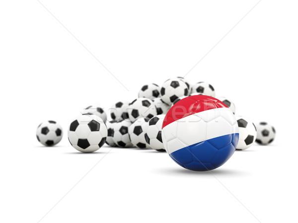 Fútbol bandera aislado blanco 3d deporte Foto stock © MikhailMishchenko