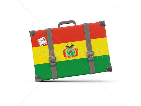 Bagaglio bandiera Bolivia valigia isolato bianco Foto d'archivio © MikhailMishchenko