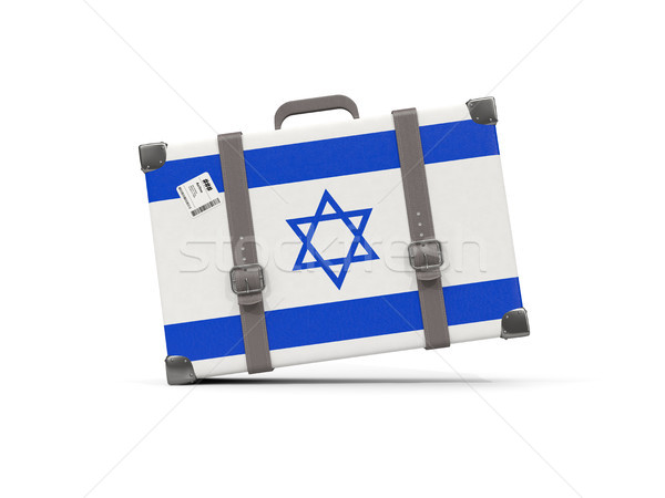 Luggage with flag of israel. Suitcase isolated on white Stock photo © MikhailMishchenko