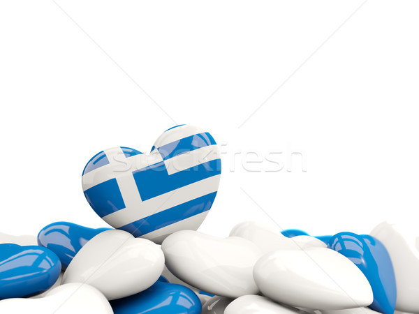 Heart with flag of greece Stock photo © MikhailMishchenko