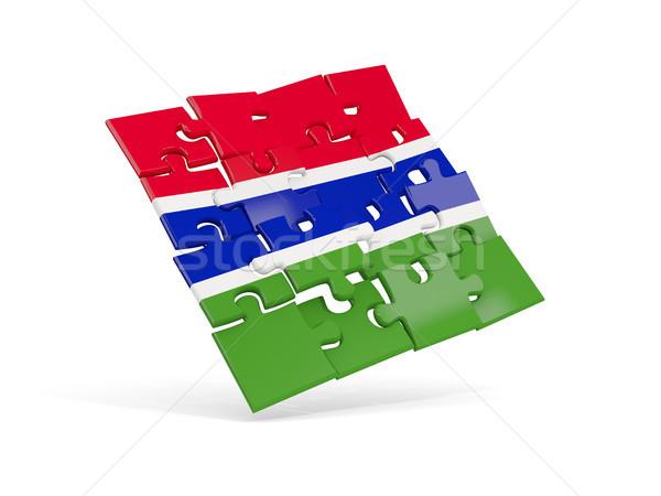 パズル フラグ ガンビア 孤立した 白 3次元の図 ストックフォト © MikhailMishchenko