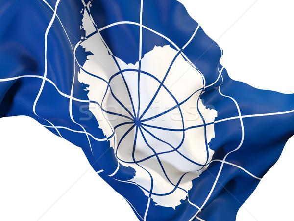 Waving flag of antarctica Stock photo © MikhailMishchenko