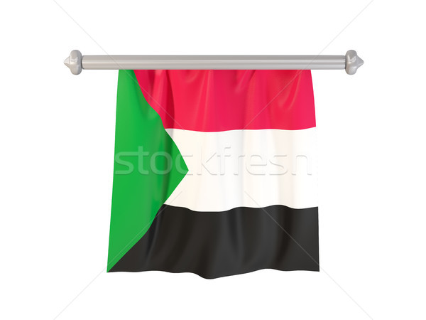 Pennant with flag of sudan Stock photo © MikhailMishchenko