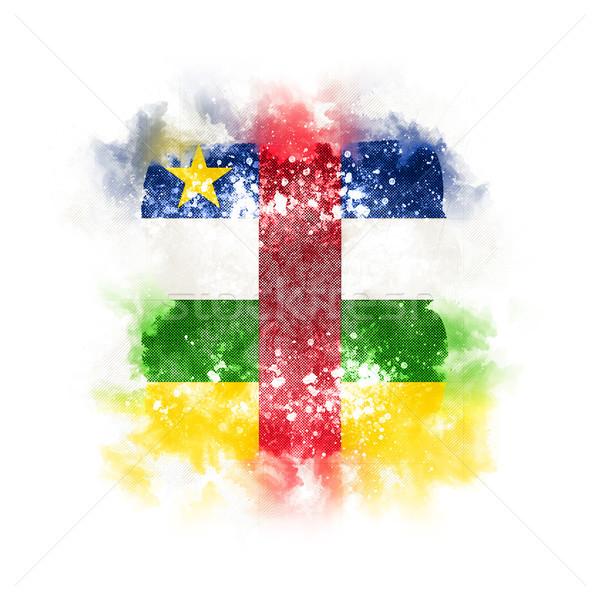 Cuadrados grunge bandera central África república Foto stock © MikhailMishchenko
