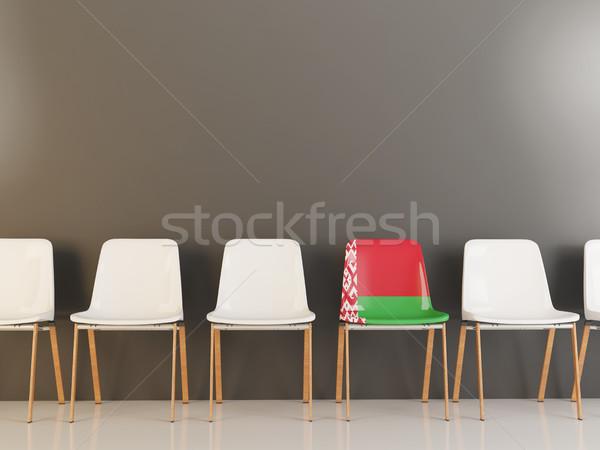 Sandalye bayrak Belarus beyaz sandalye Stok fotoğraf © MikhailMishchenko