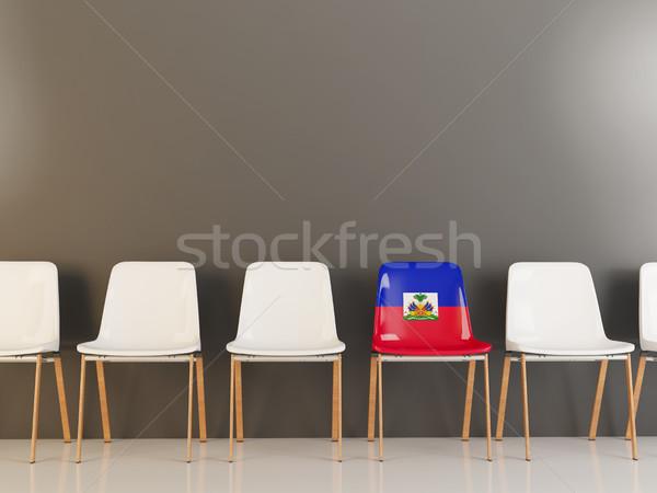 Sandalye bayrak Haiti beyaz sandalye Stok fotoğraf © MikhailMishchenko
