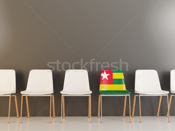 Chair with flag of togo Stock photo © MikhailMishchenko