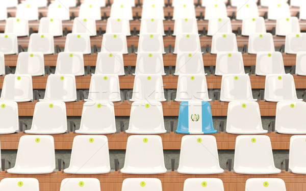 Estádio assento bandeira Guatemala branco Foto stock © MikhailMishchenko