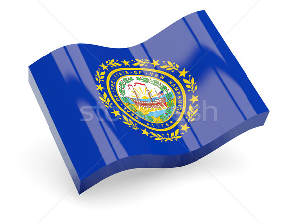 Stockfoto: Golvend · icon · New · Hampshire · vlag · USA