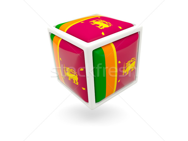 Flag of sri lanka. Cube icon Stock photo © MikhailMishchenko