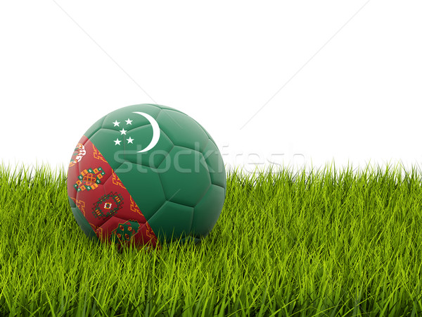 Football with flag of turkmenistan Stock photo © MikhailMishchenko