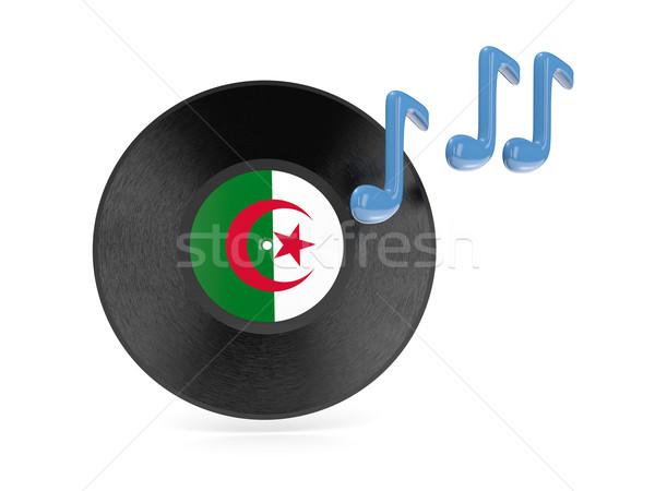 Vinyl disk with flag of algeria Stock photo © MikhailMishchenko