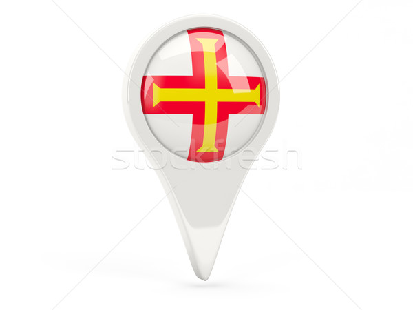 Round flag icon of guernsey Stock photo © MikhailMishchenko