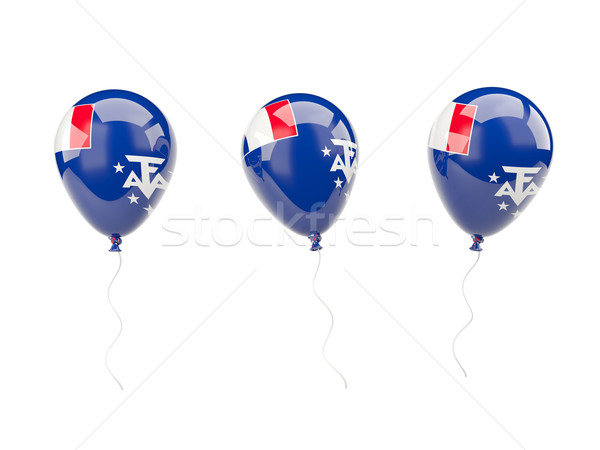 Air balloons with flag of french southern territories Stock photo © MikhailMishchenko